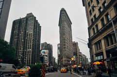The Flatiron Building in Manhattan. Royalty Free Stock Photos