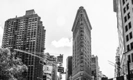 The Flatiron Building, New York City. royalty free stock photography