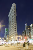 Flatiron Building New York City at night Royalty Free Stock Images