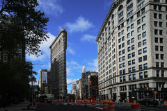 The Flatiron Building on a spring day in New York Stock Image