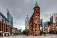 The Flatiron building in Toronto, Canada royalty free stock image