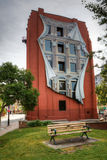 The Flatiron building in Toronto with Trompe l'oeil mural Stock Image