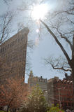 Flatiron Building & Urban Sky Scene, New York City Royalty Free Stock Photography