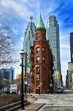 Flatiron bulding в Торонто Стоковые Фотографии RF
