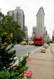 Flatiron and cars Royalty Free Stock Image