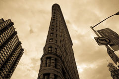Flatiron in Clouds Stock Photos