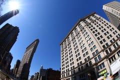 Flatiron District. In Manhattan, New York, shot with a fish eye Stock Photo