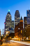 Flatiron and Downtown Toronto at Night stock photography