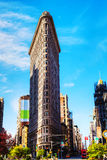 Flatiron (Fuller) building in NYC in the morning Royalty Free Stock Images