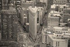 Flatiron Gebäudeschwarzes und Stockfoto
