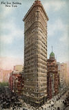Flatiron Gebäude, New York Stockfoto