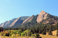Flatiron Mountains Colorado Stock Photography