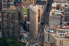 Flatiron que construye la visión aérea Foto de archivo libre de regalías