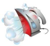 Flatiron sneezes ferry. Mr. smoothing-iron sneezes  ferry Royalty Free Stock Image