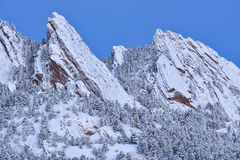Flatirons śnieg Gromadzący się obraz stock