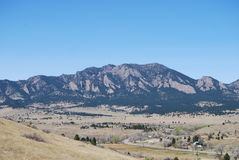 Flatirons. The Flatirons in Boulder, colorado Stock Photography