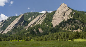 Flatirons in Boulder Colorado. Flatirons in Chautauqua Park in Boulder Colorado Stock Photo