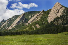 Flatirons in Boulder Colorado. Flatirons in Chautauqua Park in Boulder Colorado Royalty Free Stock Photos
