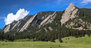 Flatirons in Boulder Colorado. Chautauqua Park Flatirons in Boulder Colorado Stock Image