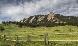 Flatirons hiking trail Stock Image