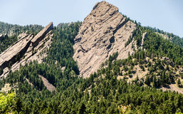 FlatIrons rock formation Boulder Colorado Stock Photos