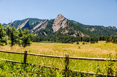 FlatIrons rock formation Boulder Colorado Royalty Free Stock Photo