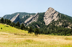 FlatIrons rock formation Boulder Colorado Royalty Free Stock Photography