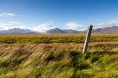 Flatland near Jökulsárlón, South Iceland Stock Photo