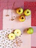 Flatlay appelen stock foto