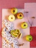 Flatlay appelen stock fotografie