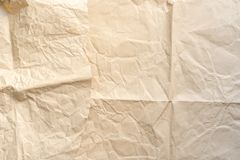 Flatlay of blank craft paper background. Copy space. Empty space. Canvas royalty free stock photography