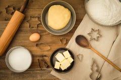 Basic baking ingredients Stock Photography