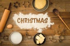 Basic baking ingredients Stock Photos