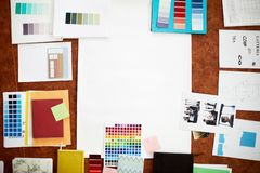 Flatlay creativo imagenes de archivo