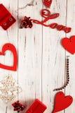 Flatlay per una dichiarazione di amore fotografie stock