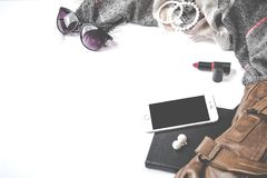 Flatlay Photography of Woman's Things Stock Photo