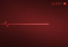 Flatline Heart Monitor - Alert royalty free stock images