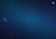 Flatline-Herz-Monitor Lizenzfreies Stockbild