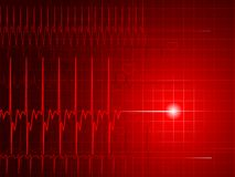 Flatline monitor Stock Images