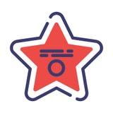 FlatOutline för Hollywood stjärna illustration stock illustrationer
