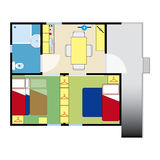 Flatplan Stock Foto's