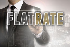 Flatrate showed by businessman concept royalty free stock photo