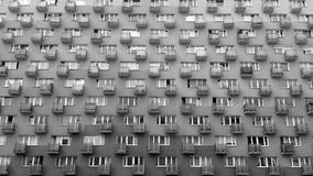 Flats in a block. Black and white photo Royalty Free Stock Photography