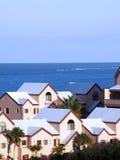 Flats door oceaan Stock Foto's