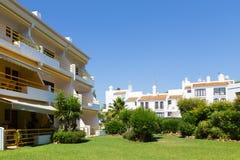 Flats en villa's Stock Afbeelding