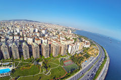 Flats has sea view. Aerial Istanbul Royalty Free Stock Photography