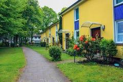 Flats in huizen in de stad, Altona Duitsland, juni 2010 royalty-vrije stock afbeelding