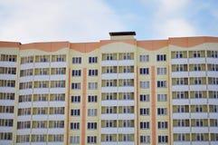 Flats met balkons, verglaasde loggia royalty-vrije stock foto