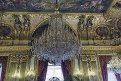 Flats Napoleon III bij het Louvre stock afbeelding