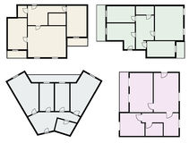 Flats scheme, view from above vector Royalty Free Stock Photo